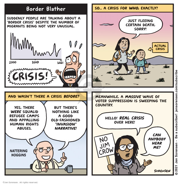 Jen Sorensen  Jen Sorensen's Editorial Cartoons 2021-03-23 voting rights