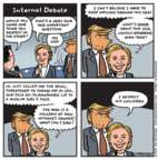 Cartoonist Jen Sorensen  Jen Sorensen's Editorial Cartoons 2016-10-10 cannot tell a lie