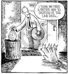 I think we need a better way to dispose of the lab rats…