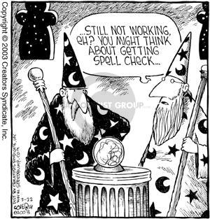 Comic Strip Dave Coverly  Speed Bump 2003-03-22 work