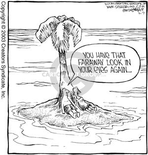 Cartoonist Dave Coverly  Speed Bump 2003-07-07 distract