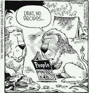 Comic Strip Dave Coverly  Speed Bump 2003-05-07 lion