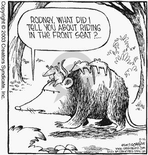 Comic Strip Dave Coverly  Speed Bump 2003-05-15 backseat driver