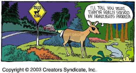 Comic Strip Dave Coverly  Speed Bump 2003-11-09 wildlife