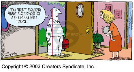 Comic Strip Dave Coverly  Speed Bump 2003-11-23 work