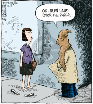 Comic Strip Dave Coverly  Speed Bump 2008-10-18 hand