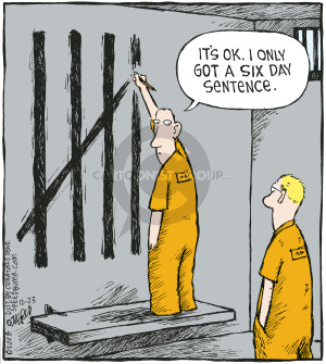 Cartoonist Dave Coverly  Speed Bump 2008-12-23 prison sentence