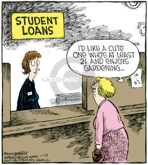 Comic Strip Dave Coverly  Speed Bump 2009-01-19 student debt