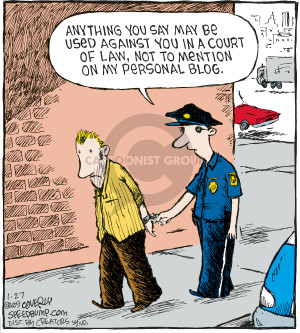 Cartoonist Dave Coverly  Speed Bump 2009-01-27 law