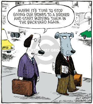 Comic Strip Dave Coverly  Speed Bump 2009-02-20 stock market crash