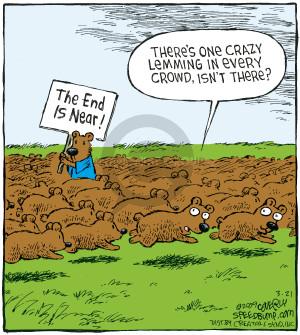 Cartoonist Dave Coverly  Speed Bump 2009-03-21 herd