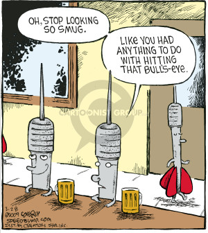 Comic Strip Dave Coverly  Speed Bump 2009-03-28 dart