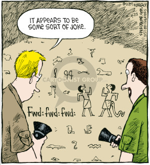 Cartoonist Dave Coverly  Speed Bump 2009-04-23 forward