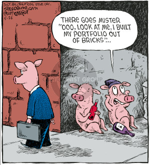 """There goes Mister """"Ooo, look at me, I build my portfolio out of bricks""""…"""