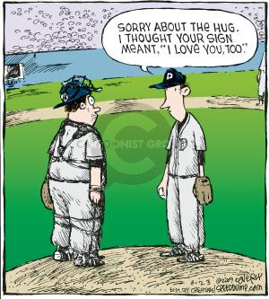 Comic Strip Dave Coverly  Speed Bump 2009-06-23 baseball pitcher