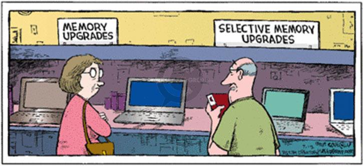Memory upgrades. Selective memory upgrades.