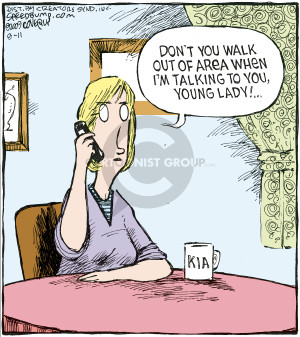 Comic Strip Dave Coverly  Speed Bump 2009-08-11 cell phone coverage
