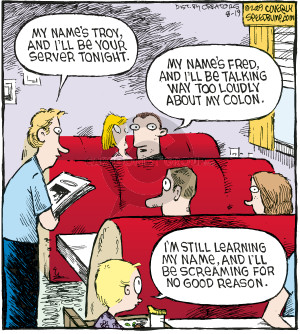 Cartoonist Dave Coverly  Speed Bump 2009-08-19 distract