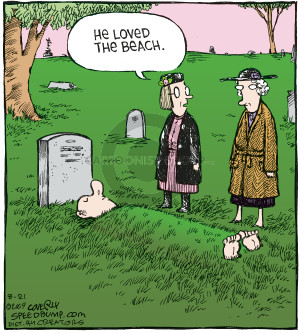 Comic Strip Dave Coverly  Speed Bump 2009-08-21 burial