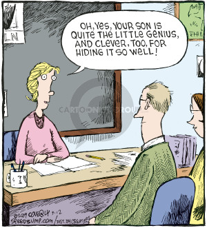 Comic Strip Dave Coverly  Speed Bump 2009-09-12 teacher