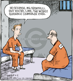 Cartoonist Dave Coverly  Speed Bump 2009-09-15 jail cell