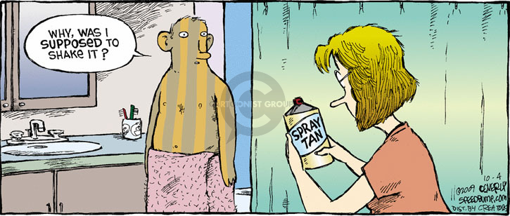 Comic Strip Dave Coverly  Speed Bump 2009-10-04 tan