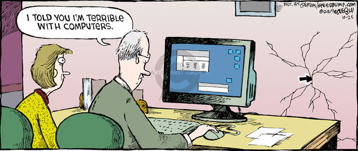 Cartoonist Dave Coverly  Speed Bump 2009-10-25 computer technology
