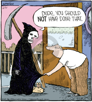 Comic Strip Dave Coverly  Speed Bump 2009-10-31 Halloween