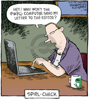 Cartoonist Dave Coverly  Speed Bump 2009-11-28 software