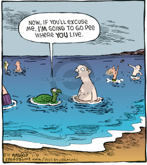 Comic Strip Dave Coverly  Speed Bump 2010-01-09 sea turtle