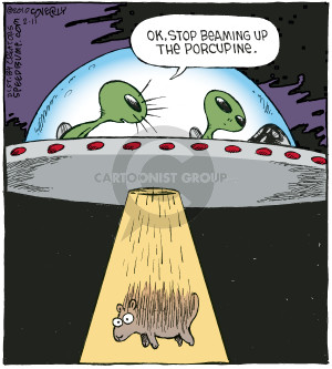 Comic Strip Dave Coverly  Speed Bump 2010-02-11 porcupine