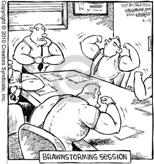 Comic Strip Dave Coverly  Speed Bump 2010-04-15 muscle