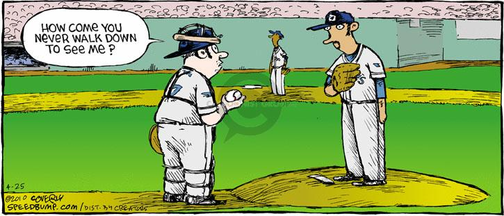 Comic Strip Dave Coverly  Speed Bump 2010-04-25 baseball pitcher