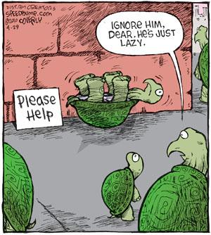 Comic Strip Dave Coverly  Speed Bump 2010-04-29 lazy