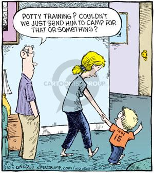 Comic Strip Dave Coverly  Speed Bump 2010-05-12 potty training