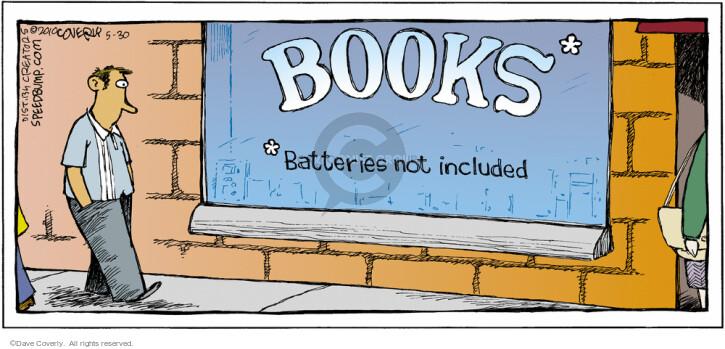 Cartoonist Dave Coverly  Speed Bump 2010-05-30 bookshop