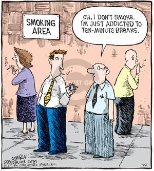 Comic Strip Dave Coverly  Speed Bump 2010-07-21 cigarette