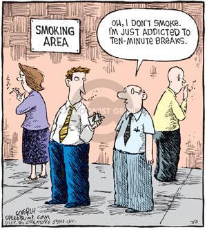 Cartoonist Dave Coverly  Speed Bump 2010-07-21 smoking
