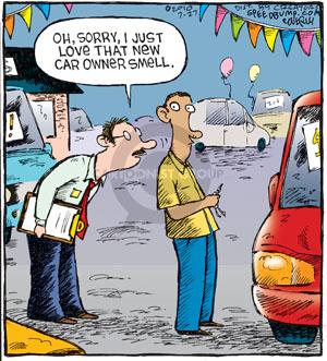 Comic Strip Dave Coverly  Speed Bump 2010-07-27 automobile dealership