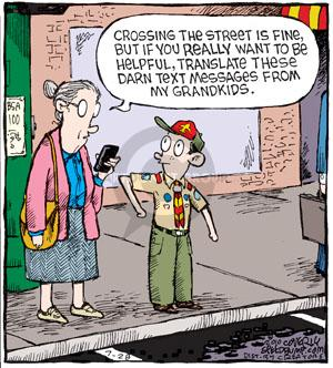 Comic Strip Dave Coverly  Speed Bump 2010-07-28 grandmother