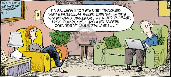 Comic Strip Dave Coverly  Speed Bump 2010-08-15 conversation