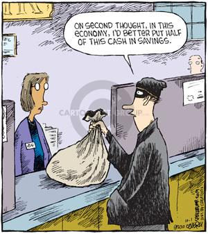 Comic Strip Dave Coverly  Speed Bump 2010-10-01 bank robber