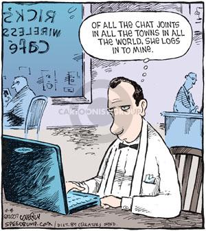 Comic Strip Dave Coverly  Speed Bump 2010-10-08 online chat