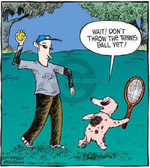Comic Strip Dave Coverly  Speed Bump 2010-10-23 tennis ball