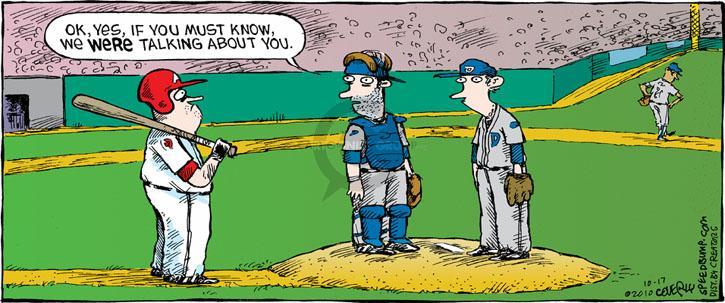 Comic Strip Dave Coverly  Speed Bump 2010-10-17 baseball pitcher