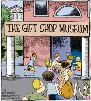Comic Strip Dave Coverly  Speed Bump 2010-11-15 museum exhibit
