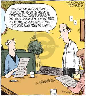 Comic Strip Dave Coverly  Speed Bump 2010-11-27 vegetarianism