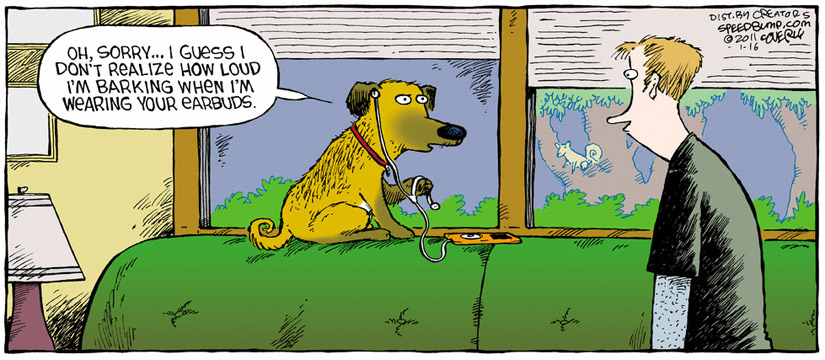 Comic Strip Dave Coverly  Speed Bump 2011-01-16 noise
