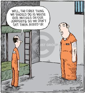Cartoonist Dave Coverly  Speed Bump 2011-02-05 jail cell