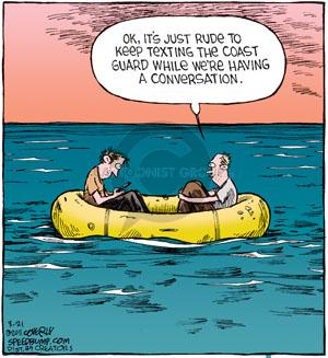 Comic Strip Dave Coverly  Speed Bump 2011-03-21 conversation